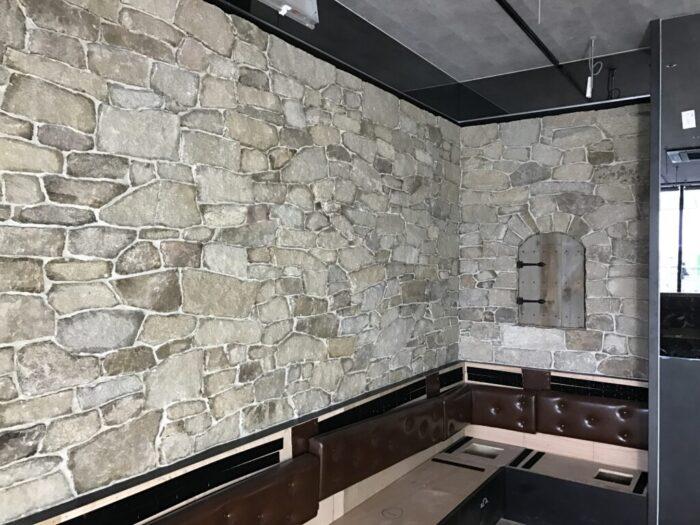 壁面石貼り工事