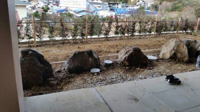 外構景石(けいせき)据付