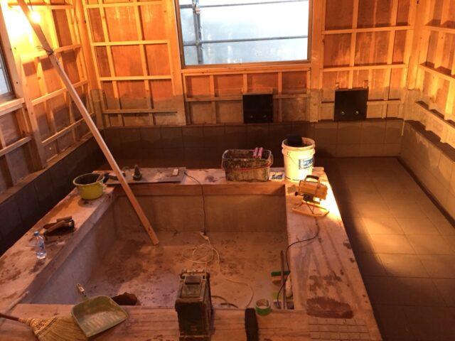 別荘地 浴室施工