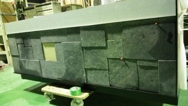 什器 石貼り施工
