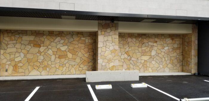 マンション駐車場 壁乱貼り・幕板工事